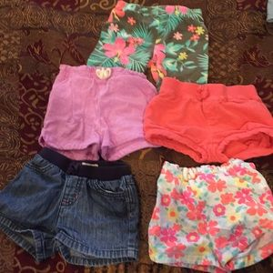 Other - 5 pair of girl shorts (sizes listed in pics)